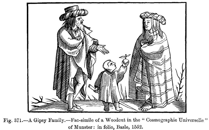 [Public domain], via Wikimedia Commons; Darstellung einer 'Zigeunerfamilie' in der Cosmographia Sebastian Münsters, http://upload.wikimedia.org/wikipedia/commons/f/fc/A_Gipsy_Family_Fac_simile_of_a_Woodcut_in_the_Cosmographie_Universelle_of_Munster_in_folio_Basle_1552.png