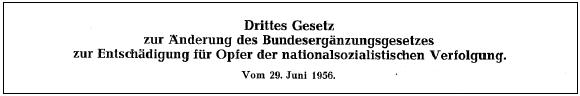 Bundesentschädigungsgesetz 1963