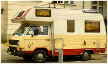 'Gypsy'-Bus: Klischee vom nicht sesshaften Nomaden. Foto: Natalie Maier
